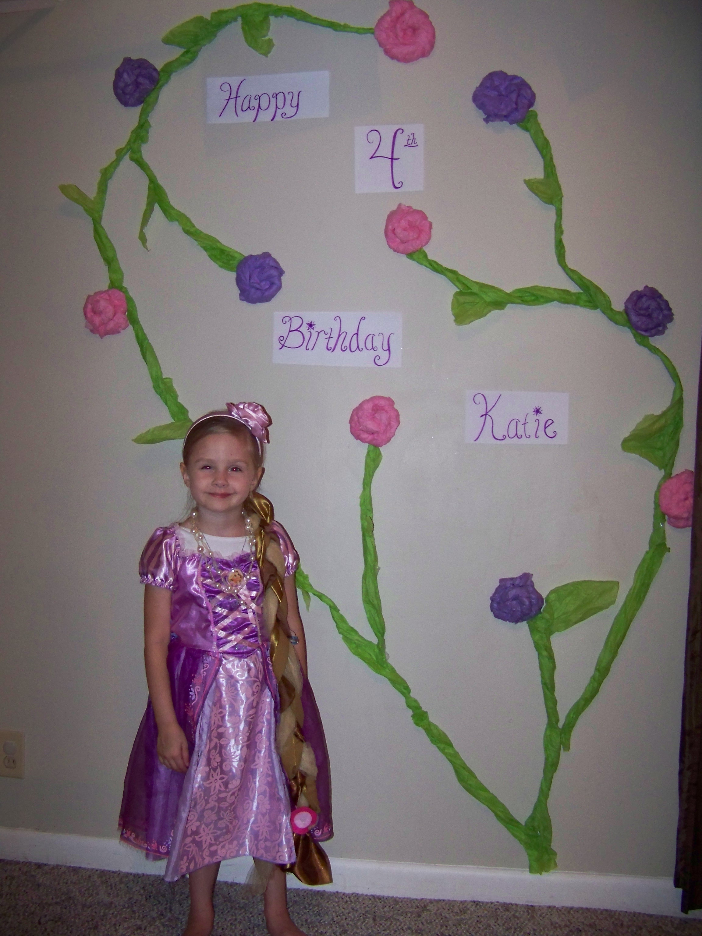 Katie Turns 4 And Her Rapunzel Birthday Party My Crazy Blessed Life