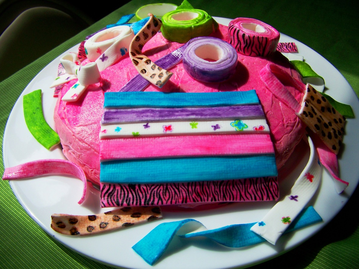 A cake for a girl who loves to make things out of duct for Duct tape bedroom ideas