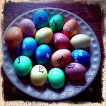 Easter Eggs With Letter Stickers!