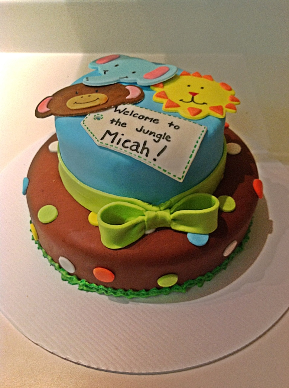 Jungle Themed Baby Shower Cake My Crazy Blessed Life