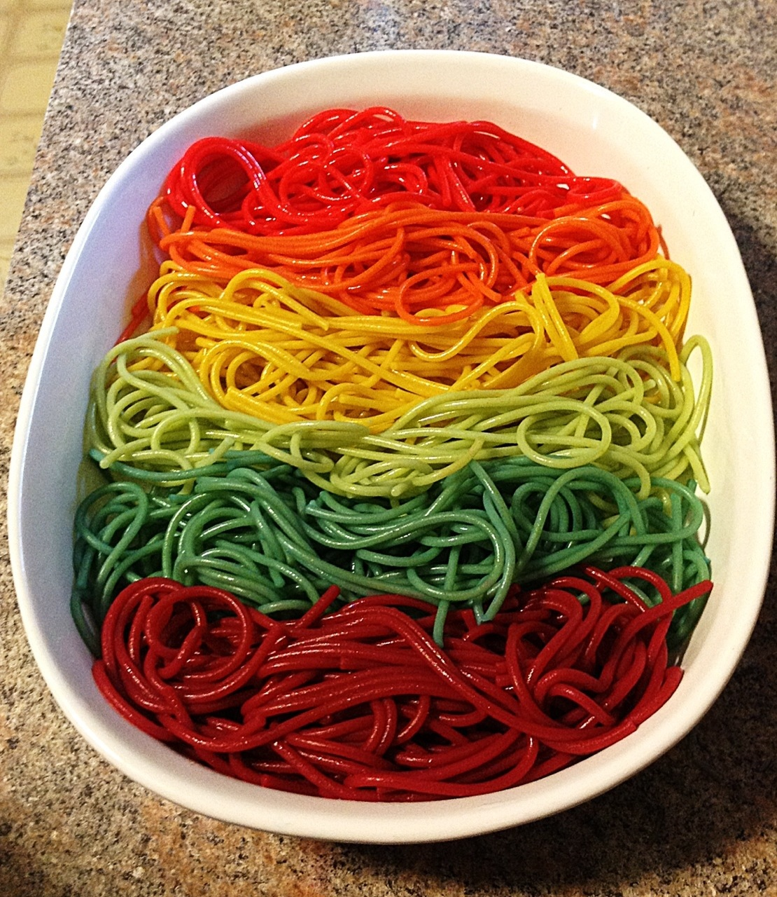 Rainbow Pasta Fun My Crazy Blessed Life