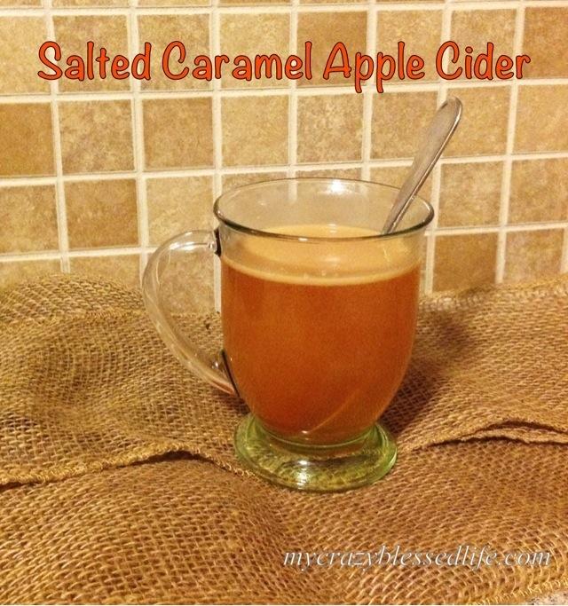 Salted Caramel Apple Cider... In The Crockpot!