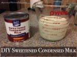 DIY Sweetened Condensed Milk