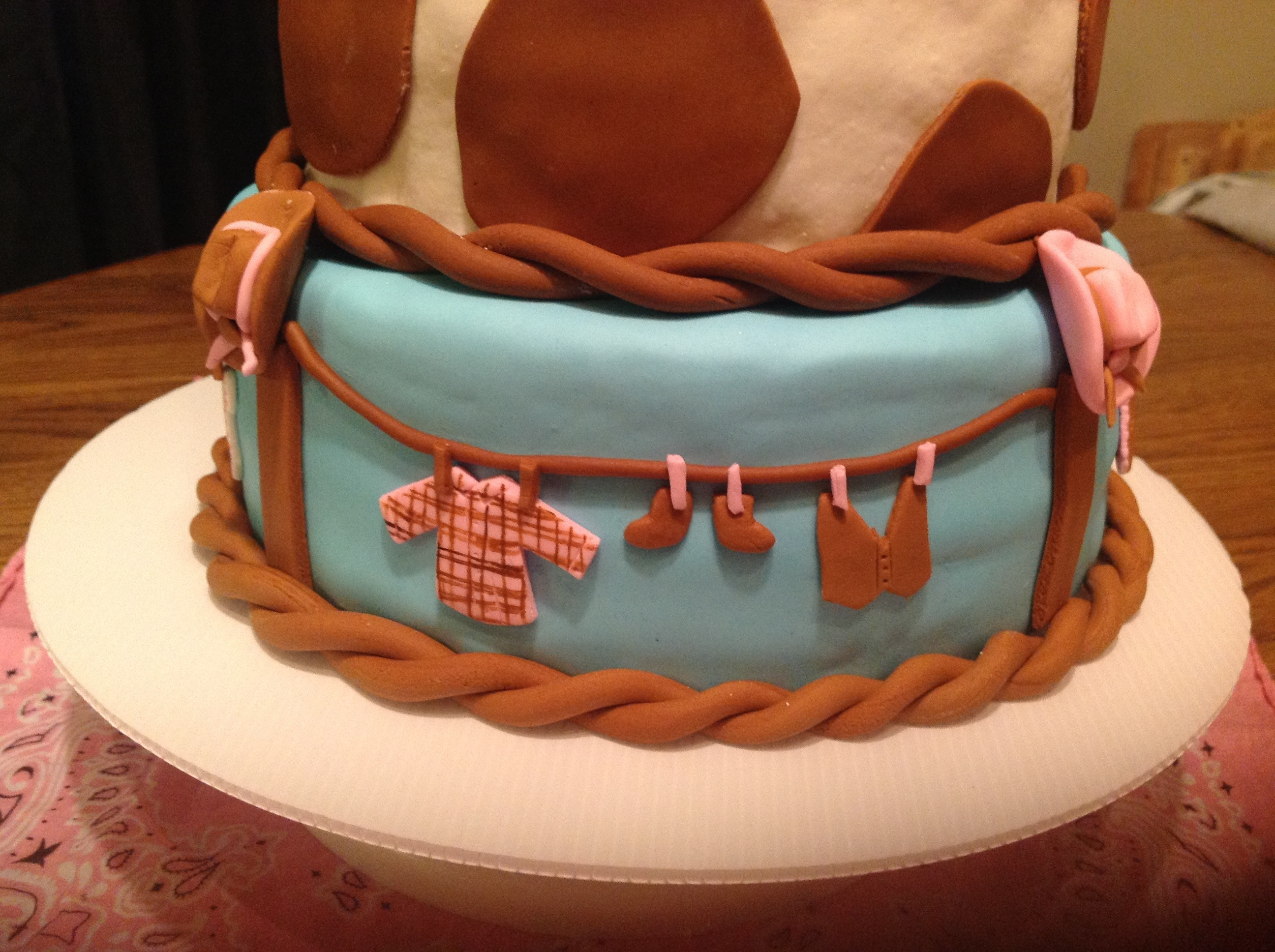 Cowgirl Baby Shower Cake My Crazy Blessed Life