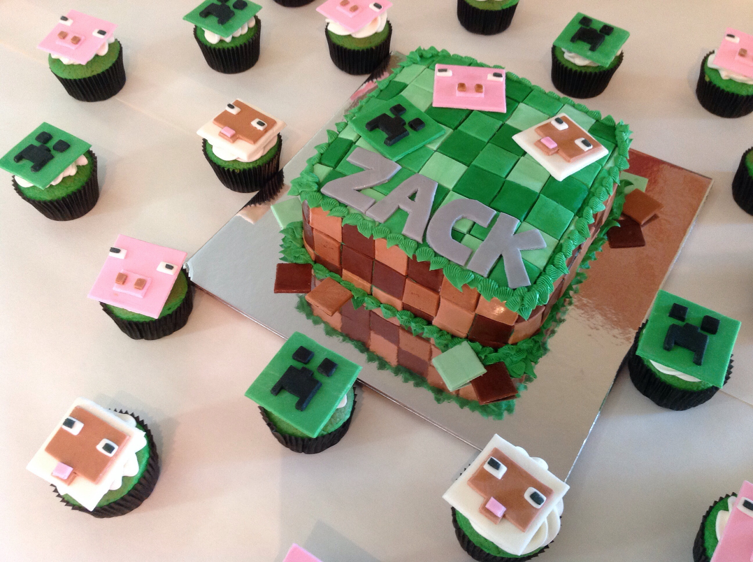 Minecraft Cake and Cup...