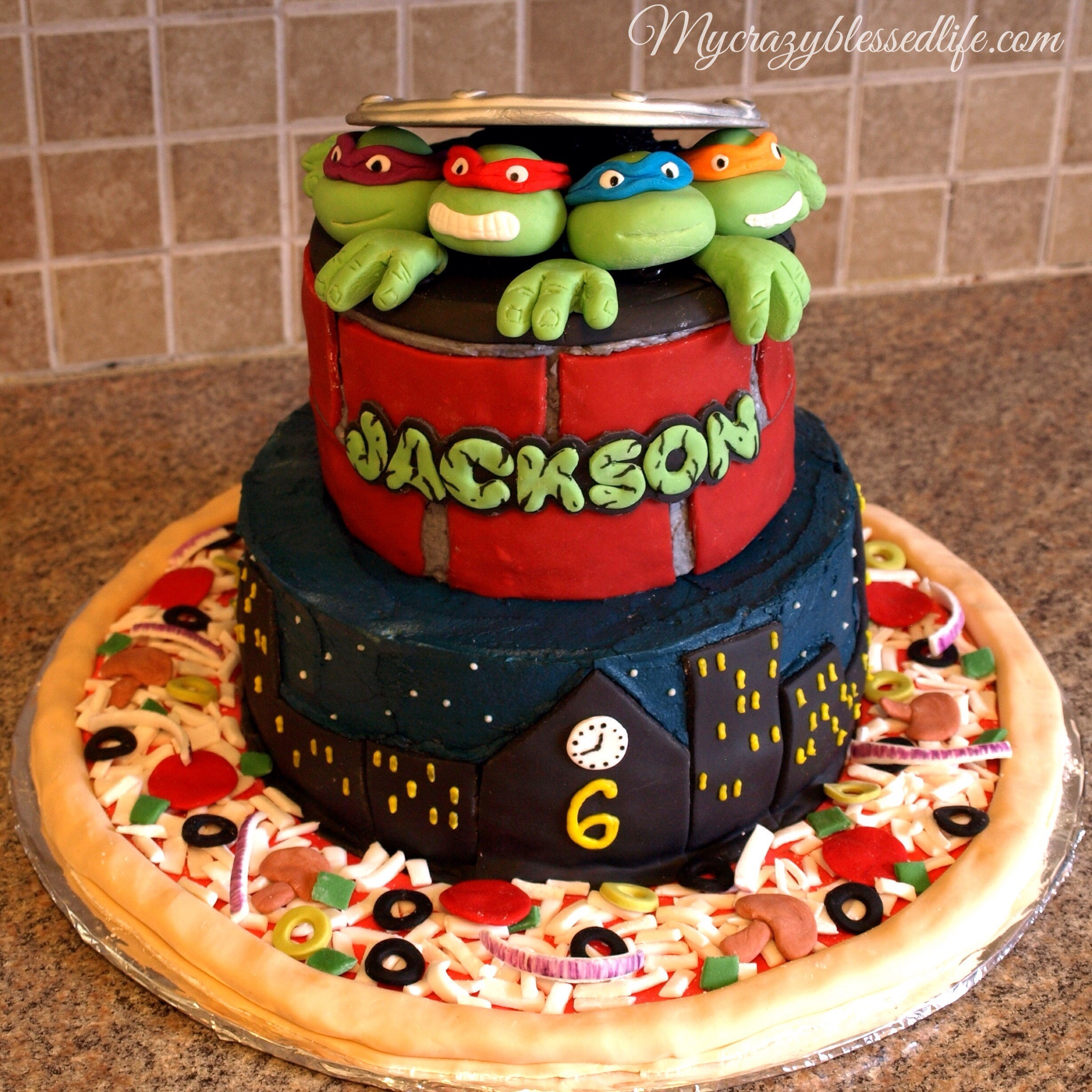 Ninja Turtles Cake | My Crazy Blessed Life!
