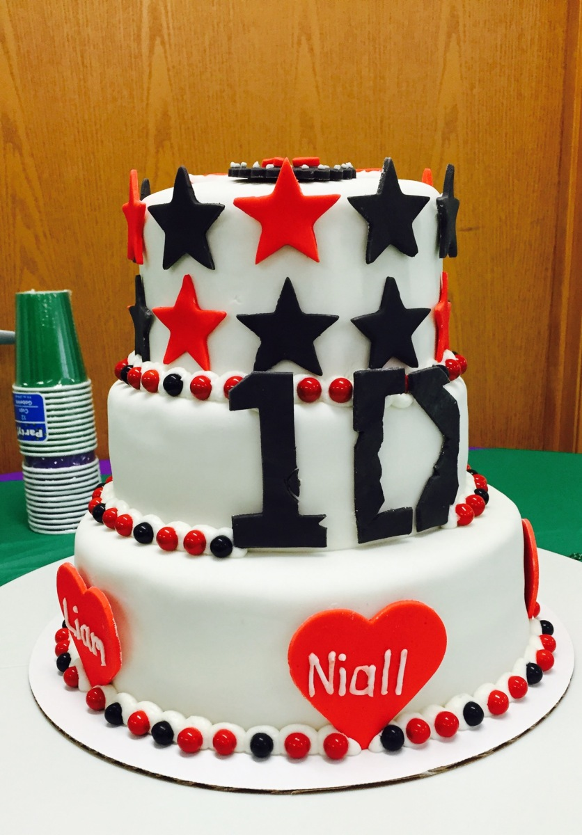 Incredible One Direction Cake My Crazy Blessed Life Funny Birthday Cards Online Elaedamsfinfo