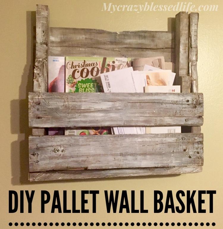 DIY Pallet Wall Basket